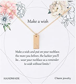 Message Card 12 Zodiac Necklace Woman Constellations Sign Tag Pendant Necklace Birthday Gifts Jewelry
