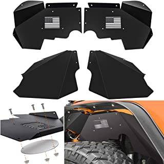 BESKE Jeep Wrangler JK Inner Fender Liners Front Fender Mud Guards ...