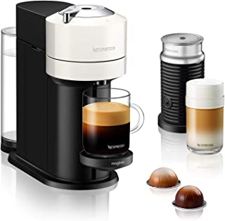 Nespresso Vertuo Next with Aeroccino, by Magimix - White, 11710 - 3 Months of Coffee and an Aeroccino