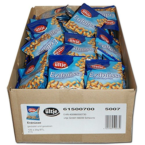 ültje Erdnüsse geröstet & gesalzen 20g, 125 stück