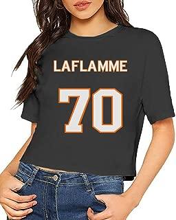 JiJingHeWang Women's T-Shirt Goon Laflamme 70 Jersey Short Sleeves Lumbar Tee