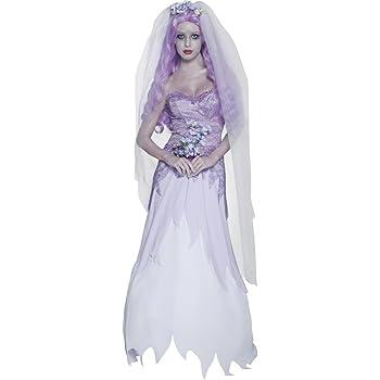 Smiffys - Disfraz de novia fantasma gótica para mujer, talla M ...