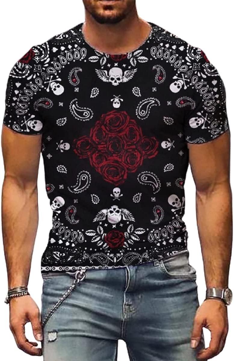 SENDEREAL Men's Crew Neck T-Shirts Short Sleeve Casual Tees Printed Short Sleeves Unisex Fashion 3D Print T-Shirts