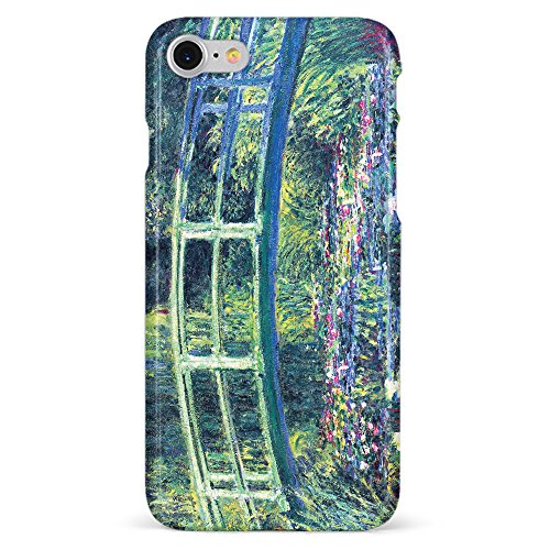 Monarque iPhone Case with Smooth Premium Durable Scratch-Resistant TPU Material with Bridge Monet Design