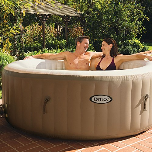 Intex Whirlpool Pure SPA 77″ Bubble Massage, Braun, Ø 196 x 71cm - 2
