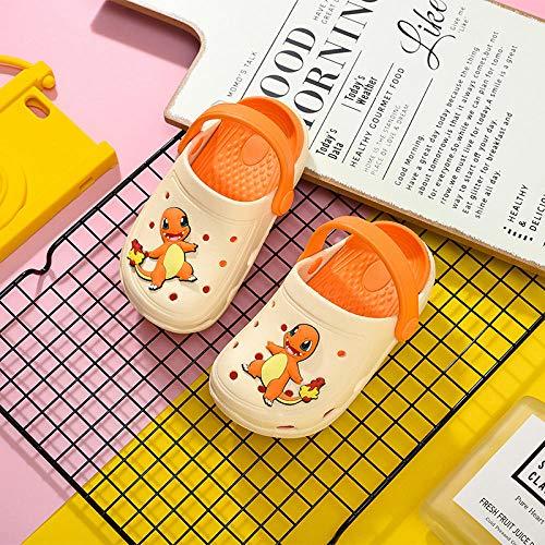 Perferct Zuecos Mujer,Zapatillas Infantiles Pikachu, Zapatos para niños y niñas para niños y niñas-13 cm (13 Yardas) Durante 12 a 15 Meses_1955 Dragón de Fuego pequeño