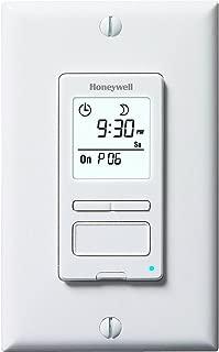 Honeywell ECONOSwitch Programmable Light Switch Timer, White, RPLS540A1002U