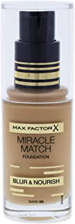 Max Factor Miracle Match Liquid Foundation, 60 Sand, 30 Ml