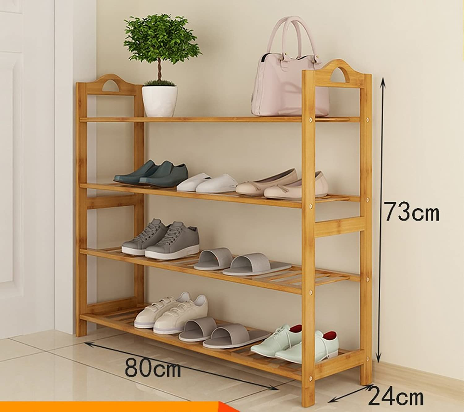 shoes Bench Organizing Rack shoes Rack Bamboo Economic shoes Rack Dormitory Combination dustproof Simple Multi - Functional Storage Shelves Practical Shelves (color   B, Size   80cm)