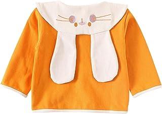famuka Baby Girls Spring Autumn Coat Rabbit Ear Lapels Cardigan Jacket