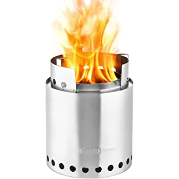 Solo Stove Campfire - Largest Version of Original Super-efficient Wood Burning Camping Stove. Great for Camping, Hiking, Survival, Emergency Preparation