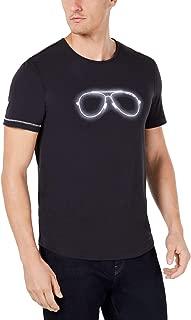 Michael Kors Mens T-Shirt Large Graphic Neon Aviator Black L