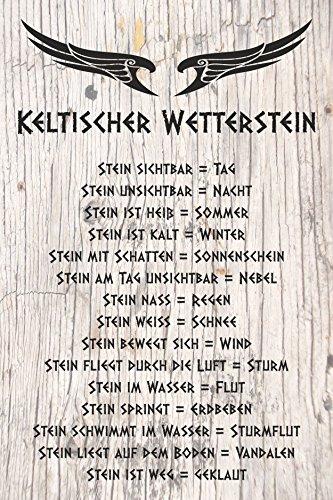 Melis Folienwerkstatt Schild - Keltischer Wetter-Stein - 30x20cm | Bohrlöcher | 3mm Aluverbund – S00352-005 20 VAR