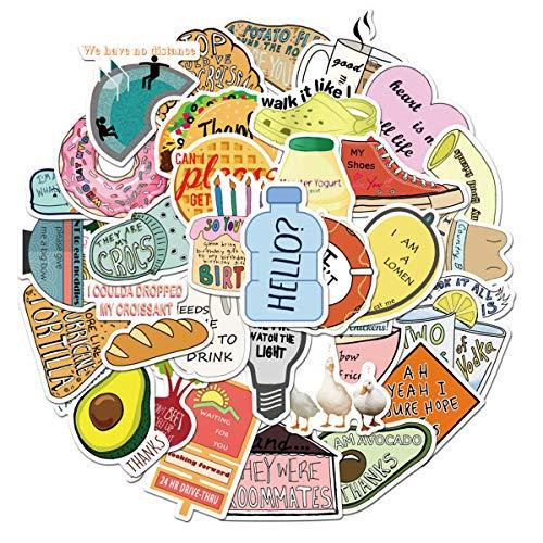 Cute Vsco Vine Flash Sweet Stickers (50 PCS) Funny Stickers for Teens, Girls, Adults,Kids - Stickers for Waterbottles,Laptop,Phone,Hydro Flask - Waterproof Vinyl Sticker (Vine)