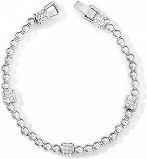 Meridian Petite Swarovski Crystal Silver Plated Bracelet