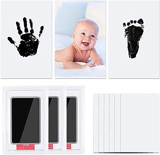 Vicloon Baby Footprint Kit & Handprint Kit,3 st Fotolijst Clay Kit voor pasgeborenen Jongens en Meisjes, Aanpasbare Pasgeb...