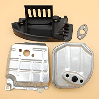 Tiempo Beixi Canalización de Aire silenciador Junta Cubierta Inferior de la Placa for Honda GX 35 GX35 Solo Cilindro del Motor de Cortadoras de Césped Trimmer Bomba de Agua Generador