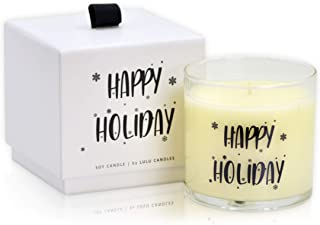 Lulu Candles | Happy Holidays | Balsam Fir & Juniper Berry | Luxury Scented Soy Jar Candle | Hand Poured in The USA | High...