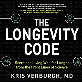 The Longevity Code     The New Science of Aging              Written by:                                                                                                                                 Kris Verburgh MD                               Narrated by:                                                                                                                                 Pete Cross                      Length: 11 hrs and 55 mins     36 ratings     Overall 4.7