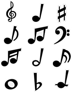 Fun Express - Musical Note Bulletin Board Accents - Educational - Classroom Decorations - Bulletin Board Decor - 48 Pieces