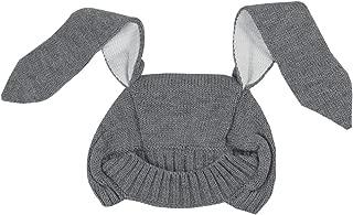 KINDOYO Baby Boy Girl Knitted Cartoon Bunny Ear Beanie Hat, Cute Kids Winter Warm Crochet Hat 0-5Years Old