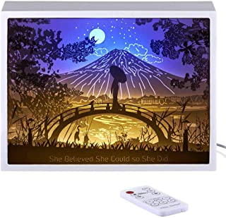 Vibes Genius 913US Papercut Light Boxes, Decor Light of 13 to 19 Years Old Teen Girl Style, Gift Idea for Sister, Daughter, Niece, Cousin, Quinceanera or Birthday (She Believed She Could so She Did)