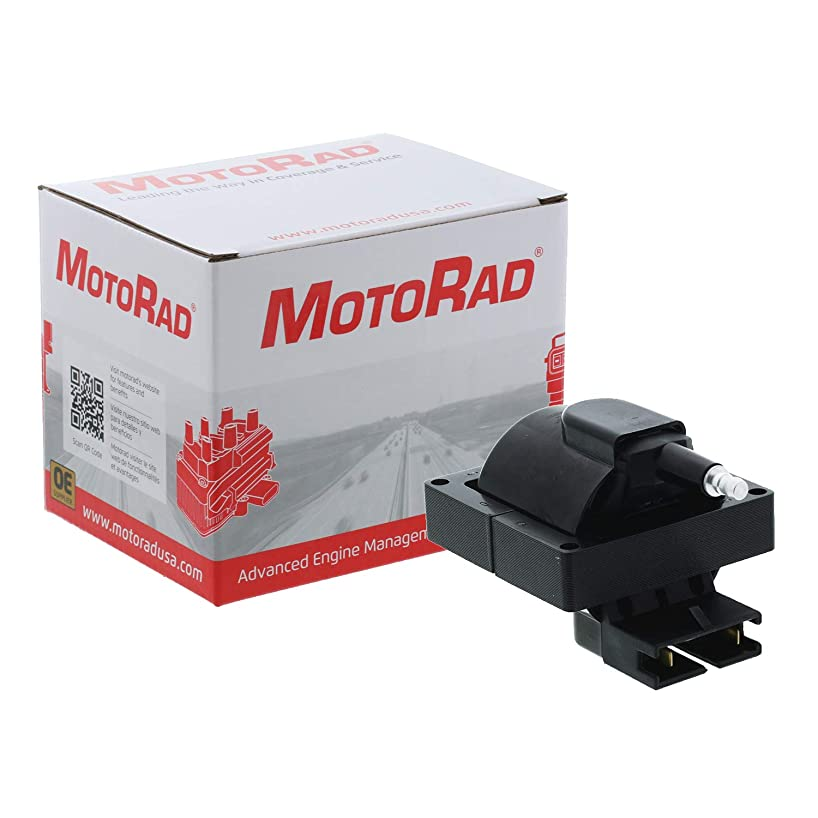 MotoRad 3IC114 Ignition Coil | Fits select Ford Bronco, E-150, E-250, Escort, F-150, F-250, F-350, Mustang, Probe, Ranger, Taurus, Lincoln Continental, Town Car, Mazda 626, MX-6, Mercury Cougar, Sable
