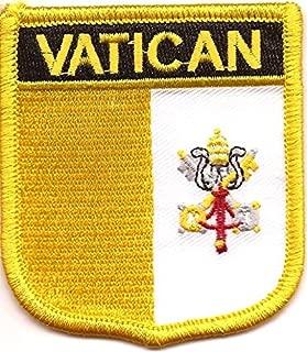 Vatican Flag Patch/International Shield Iron On Badge (Vatican Crest, 2.75