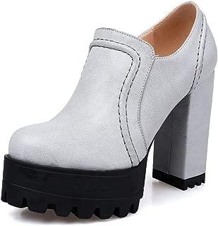 BalaMasa Womens Mule Platform Solid Urethane Pumps Shoes APL10750