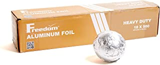 Heavy Duty Aluminum Foil Wrap, Commercial Grade 500ft Foil Wrap for Food Service Industry, Strong Silver foil, 18 inches by 500 Feet (1 Pack)