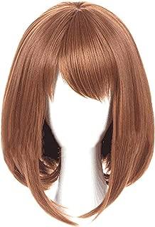 Cosplay Wig Ochaco Uraraka Wig Brown Bob Wig My Hero Academia Cosplay Wig for Halloween Costume