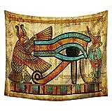 JUNGEN Tapiz de Pared de egipcios y africanos Tapiz de Estilo Etnico Vintage Pintura de Fondo Tapiceria Decorativa Multifuncional Manta Toalla de Playa Size 200x150cm (Estilo 2)
