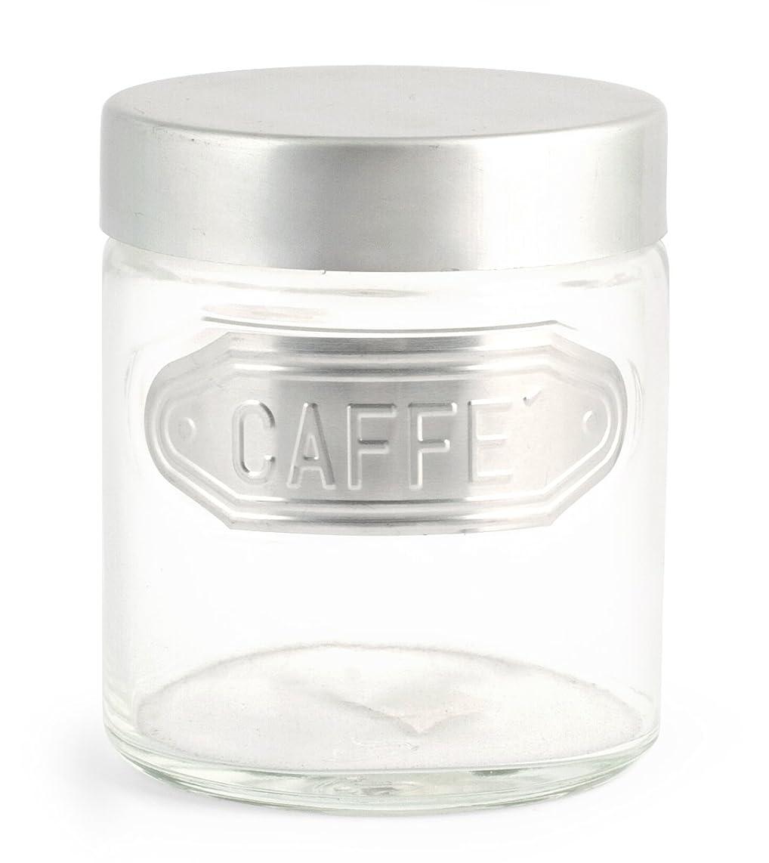 Home Coffee Jar, Aluminium, Transparent/Grey, 11?x 11?x 13?cm