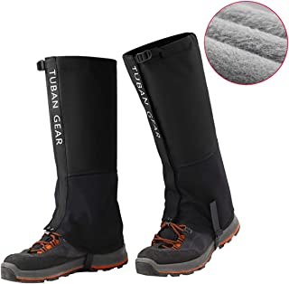 Hiking Leg Gaiters Waterproof Snow - Fleece Lining and Reinforced TPU Strap Breathable 500D Nylon for Outdoor Walking Boot Hunting Climbing Mountain