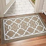 DEXI Dirt Trapper Door Mat 60 x 90 cm,Non-slip Entrance Rug for Indoor and Outdoor,Machine Washable Soft Floor Mat,Super Absorbent Front Door Mat Carpet,Brown