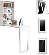 Wooden-Life Fold Out Convertible Wall Mount Desk - White