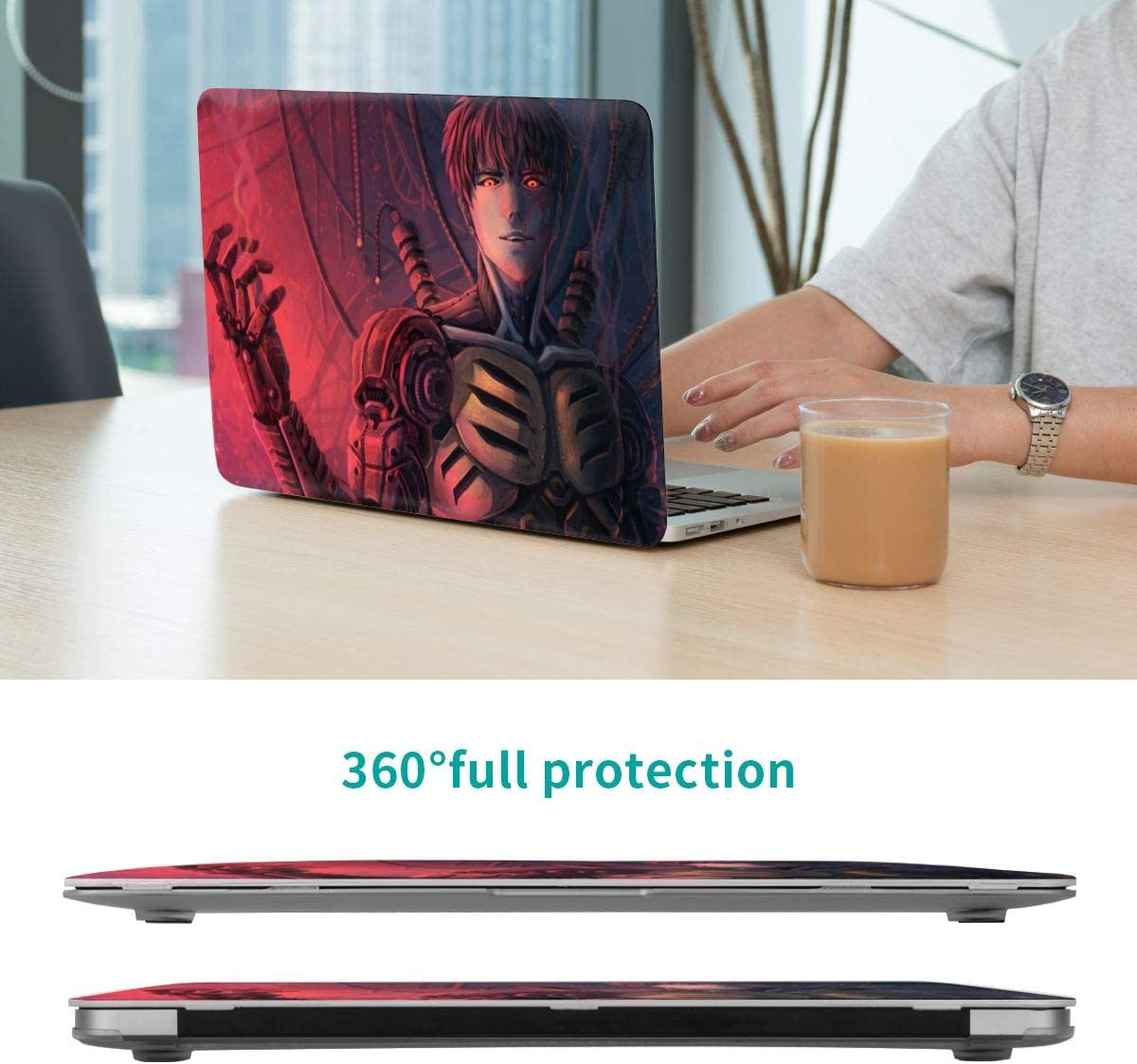Genos One Punch Man Pro 15 Inch Case 2019 2018 2017 2016 Release A1990 A1707 Laptop Cover Protective Case for Pro 15 Inch
