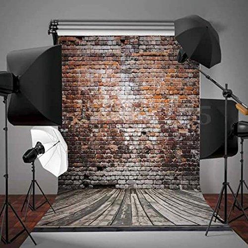 NIVIUS PHOTO 150x330CM Ziegelwand Rustikales Retro- Tiefe Ziegelstein-Hintergrund für Studiofotos der Werbung D-3489