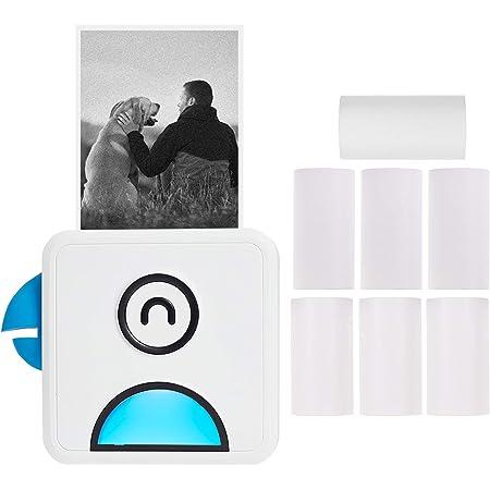 Aibecy Poooli L1 Mini Fotodrucker 200dpi Thermodrucker Bt Wireless Receipt Label Sticker Maker Mit Thermopapierrolle Kompatibel Mit Android Ios Smartphone Bürobedarf Schreibwaren