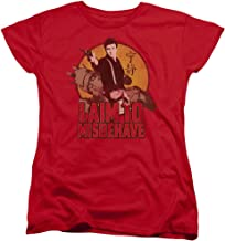 Firefly I Aim To Misbehave Womens Short Sleeve Shirt Red Md