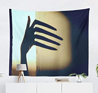 Deronge Scary Tapestry, Abstract Black Shadow Big Wall Silhouette Children Scary Tapestry Wall Hanging Decor 50x60 Inch Wall Art Tapestry for Men Bedroom Decorative Tapestry Dorm Decor,Abstract Black