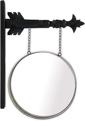 K&K Interiors Arrow - Señal Decorativa para Colgar, diseño de Espejo