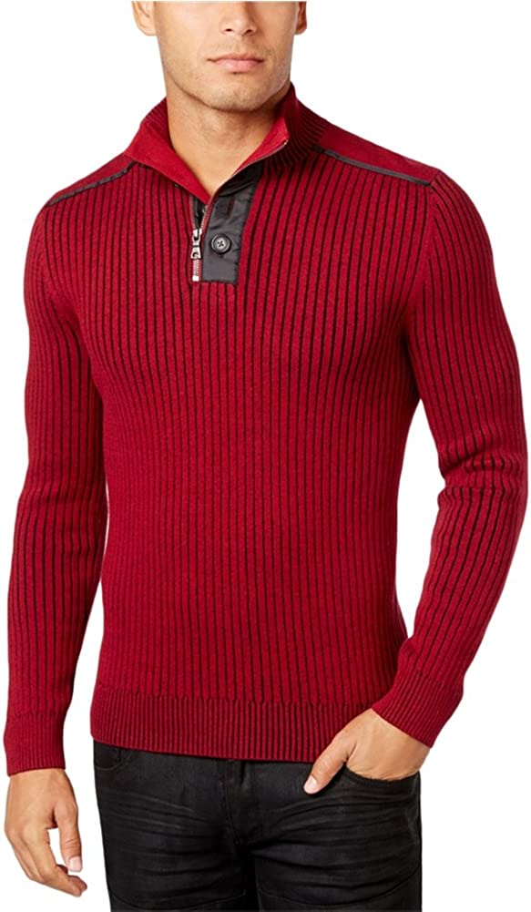 I-N-C Mens Ribbed Pullover Sweater