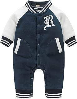 Boarnseorl Baby Boy Hoodie Rompers,Infant Long Sleeve Cartoon Dinosaur Jumpsuit Outfits