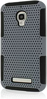Empire Mpero Fusion M Series Protective Case for Alcatel ONETOUCH Fierce 7024W - Retail Packaging - Gray