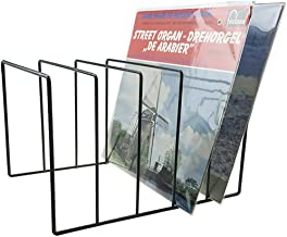 """Record-Happy Vinyl Record Storage Holder Stand – Vinyl Coated Metal Wire Rack Holds up to 50 Album Lp's - Premium Display, Simple and Contemporary Concept Design for 12"""" Records"""