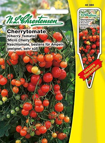 Cherrytomate 'Micro Cherry' Kirschtomate, Naschtomate, bestens für Ampeln geeignet, sehr süß