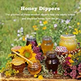 Fdit 50 Pcs/Satz Haushalt Holz Tragbare Mini Marmelade Honig Dipper Jar Dispensing Sammeln Rührstab Stick Mino Dispense Drizzle Honig(8CM) - 2