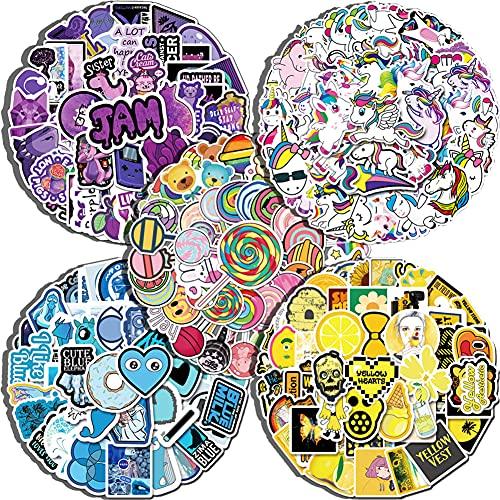 293Pcs Pegatinas, Calcomanías de vinilo, Calcomanías de arte pop, Paquete de Pegatinas, Impermeable Pegatinas, Graffiti Stickers, para Laptop, Coche, Maleta, Casco, Bicicleta, Vinilos para Portátiles