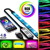 2m USB LED Streifen Licht Bluetooth Smartphone APP Steuerung, RGB 5050 Farbwechsel Flexible...